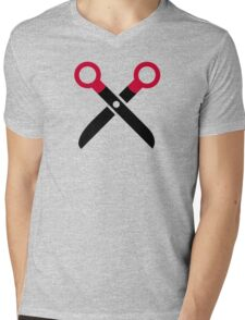 Scissors symbol Mens V-Neck T-Shirt
