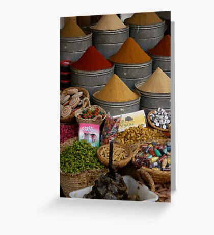 The colours of spice Greeting Card
