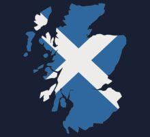 Scotland map flag by Designzz