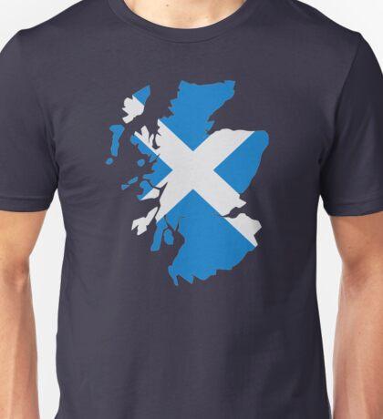 Scotland map flag Unisex T-Shirt