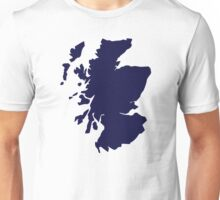 Scotland map Unisex T-Shirt