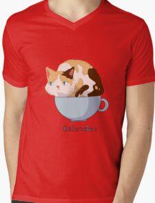 Catuccino Mens V-Neck T-Shirt