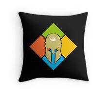 Team Spartan Throw Pillow