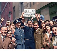 New Yorkers Celebrate V-E Day Photographic Print