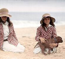 Jean and Charlotte Palmer On the Beach by jenoscolor