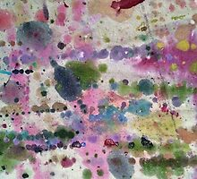 Drop Cloth Art - Abstract Paint Splatters III by Kimberley Bruce