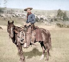 American Cowboy From 1887 by jenoscolor
