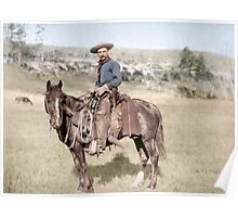 American Cowboy From 1887 Poster