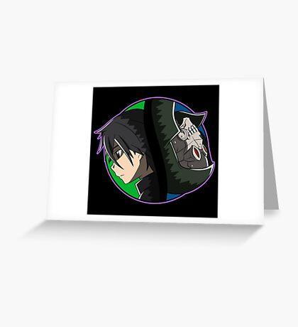 Kirito vs Death Gun Greeting Card