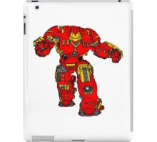 Tony Stark's Hulkbuster Suit Armour , Black outline with colour fill iPad Case/Skin