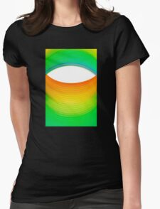 Abstract Rainbow Eye Womens Fitted T-Shirt