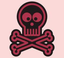 Pink Skull and Crossbones Kids Tee