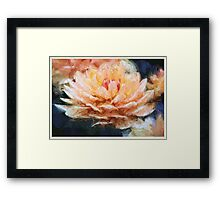 Impressionist Style Water Lily - Lotus - Zen Art - Impressionism Framed Print