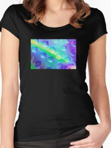 Abstract Psychedelic Drops Women's Fitted Scoop T-Shirt
