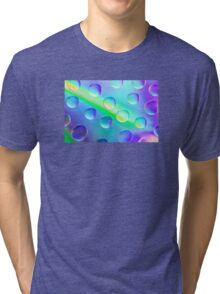 Abstract Psychedelic Drops Tri-blend T-Shirt