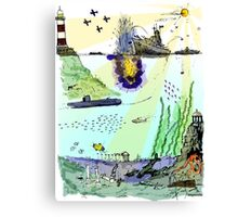 Ocean Depths Colour Canvas Print
