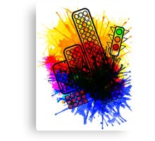 City Splatter Canvas Print