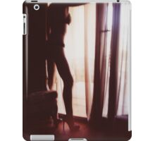 Girl looking out of the window - analog 35mm c41 film RA4 photo iPad Case/Skin