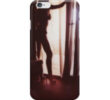 Girl looking out of the window - analog 35mm c41 film RA4 photo iPhone Case/Skin