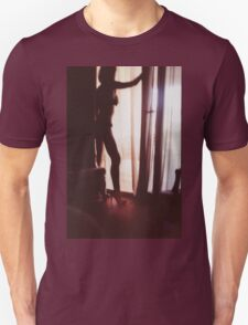 Girl looking out of the window - analog 35mm c41 film RA4 photo T-Shirt