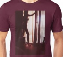 Girl looking out of the window - analog 35mm c41 film RA4 photo Unisex T-Shirt