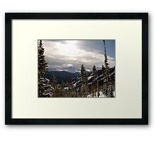 Sun on the Mountains Framed Print