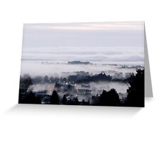 Freezing Fog in the Valley Greeting Card