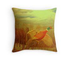 Long Tail Pheasant  Throw Pillow