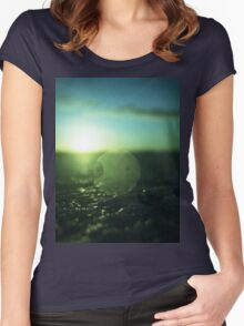 Circle in Square - medium format analog Hasselblad film photo Women's Fitted Scoop T-Shirt