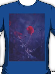 Red poppy in blue - medium format analog Hasselblad film photo T-Shirt