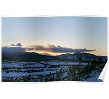 Sunset Over Colorado Poster