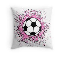 futbol : soccer splatz Throw Pillow
