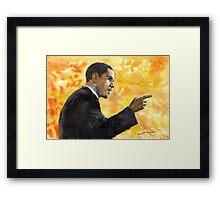 Barack Obama 02 Framed Print