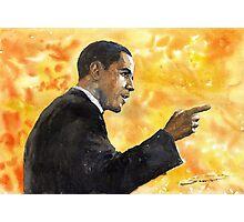 Barack Obama 02 Photographic Print