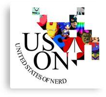 Nerd logo Canvas Print
