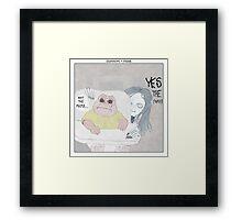 Dinosaurs + Mama Framed Print