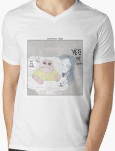 Dinosaurs + Mama Mens V-Neck T-Shirt