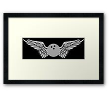 bowling : winged Framed Print