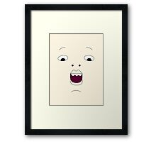 Face of Baby Cakes Framed Print