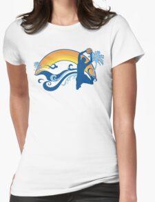 basketball summersetz Womens Fitted T-Shirt