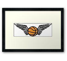 basketball : winged Framed Print