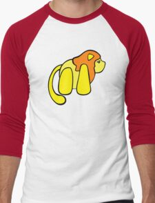 One small lion against the big, scary world Men's Baseball ¾ T-Shirt