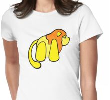 One small lion against the big, scary world Womens Fitted T-Shirt