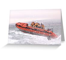 Lifeboat Rib in Action! Greeting Card