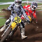 Wild Motocross Action by fotosports