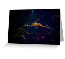 Neon Dragon Greeting Card