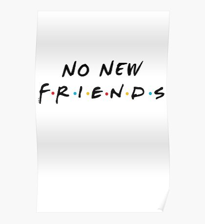 No New Friends Poster