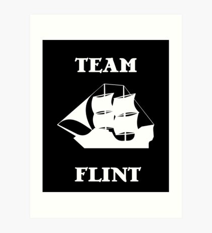 Team Flint with Ship Art Print