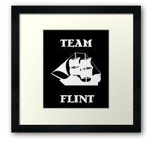 Team Flint with Ship Framed Print