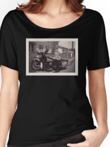 vintage biker baby Women's Relaxed Fit T-Shirt